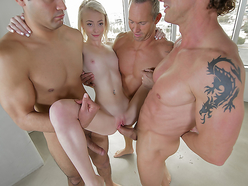 Maddy Rose going through her very first gang-bang